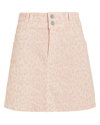 The Flute Denim Skirt, LIGHT PINK, hi-res
