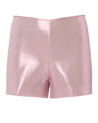 Lilac Lamé Shorts, PURPLE-LT, hi-res