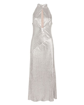 Peek-a-Boo Cocktail Dress, SILVER, hi-res