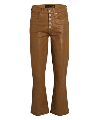 Carolyn Coated Baby Boot Jeans, BROWN, hi-res