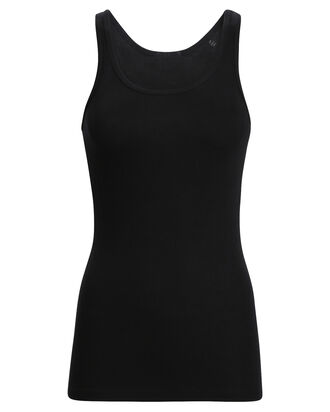 The Boy Rib Knit Tank Top, BLACK, hi-res