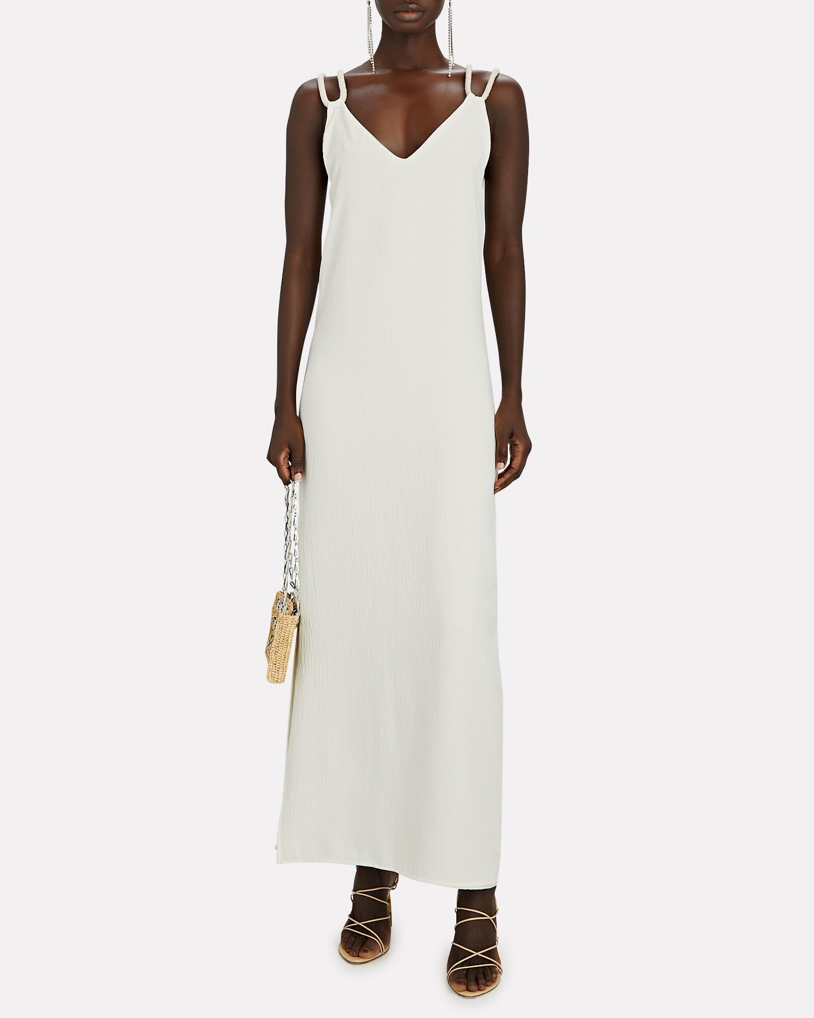 Velero Open-Back Maxi Dress, IVORY, hi-res