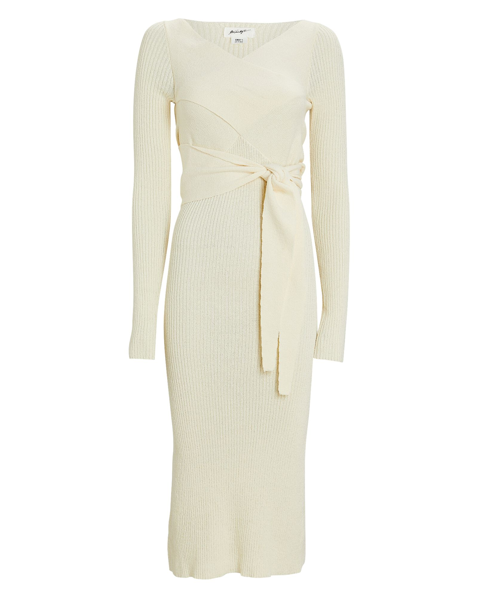 Kane Rib Knit Midi Dress, IVORY, hi-res