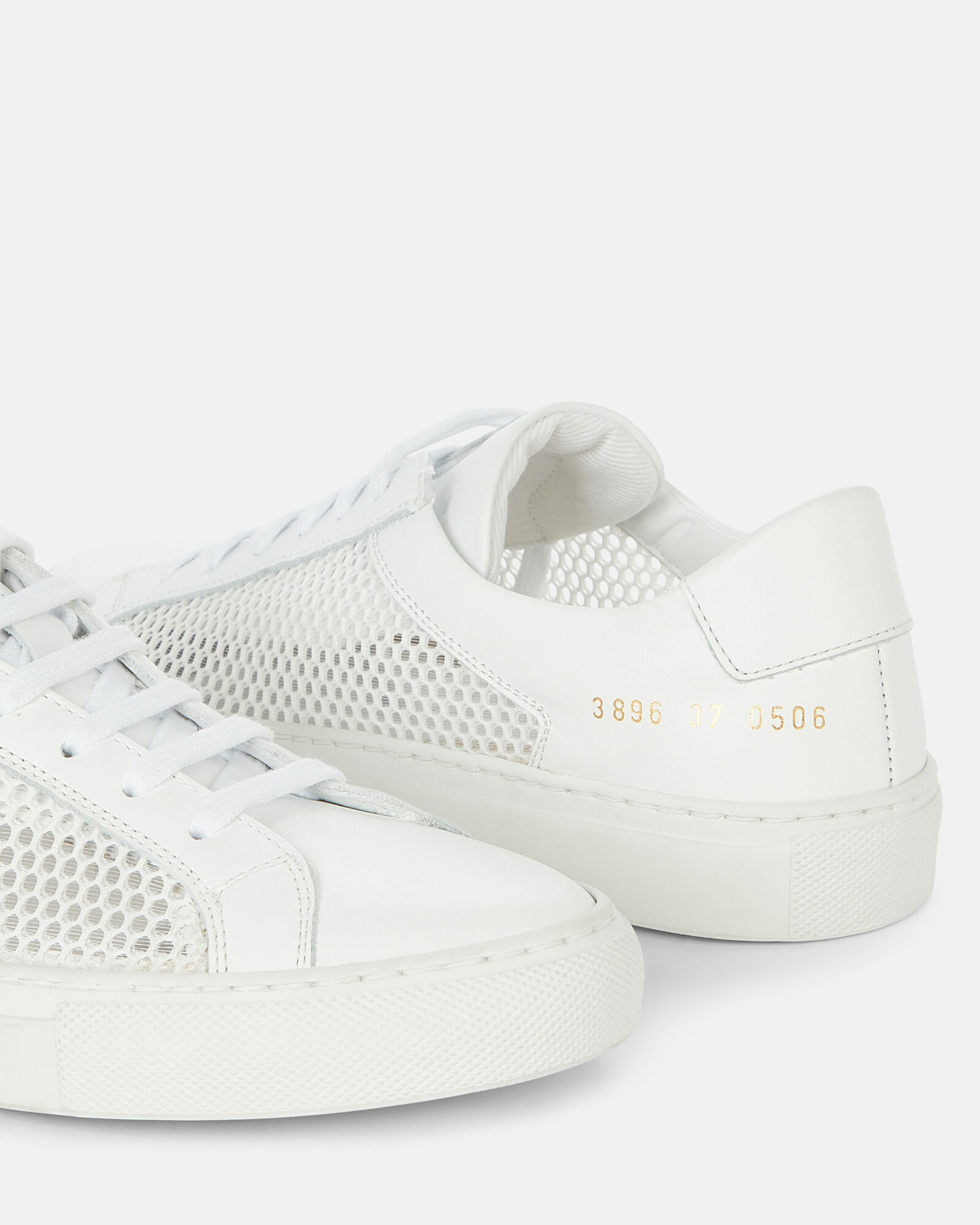 Achilles Mesh-Trimmed Leather Sneakers, WHITE, hi-res