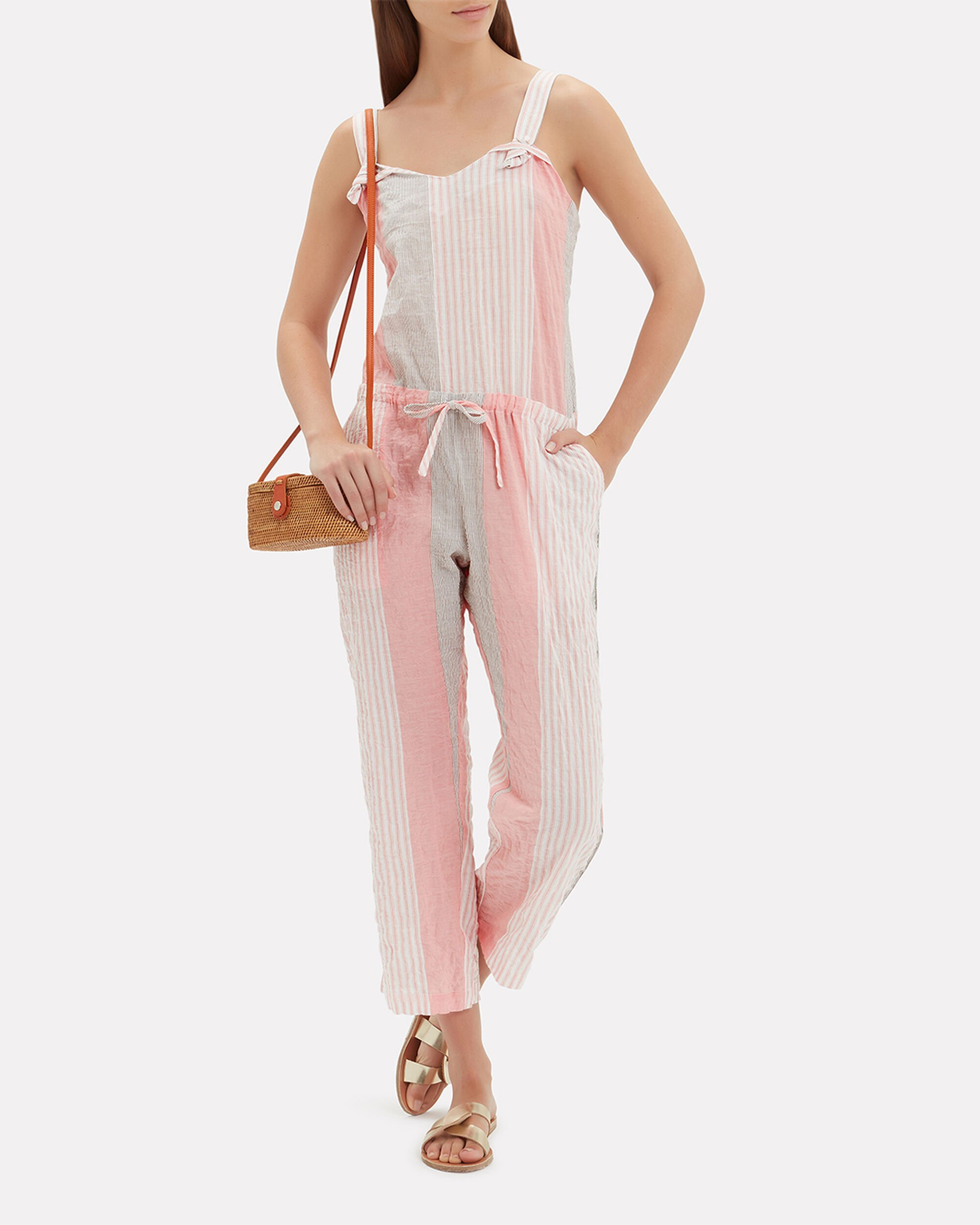 Dera Striped Jumpsuit, PINK, hi-res
