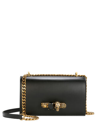Leather Crossbody Bag, BLACK, hi-res
