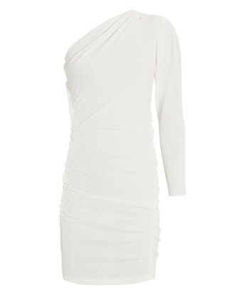 Loving One Shoulder Dress, WHITE, hi-res
