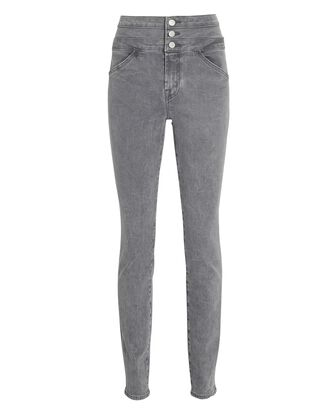 Annalie High-Rise Skinny Jeans, GREY, hi-res