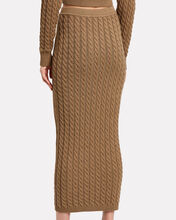Ashley Cable Knit Tube Skirt, BEIGE, hi-res