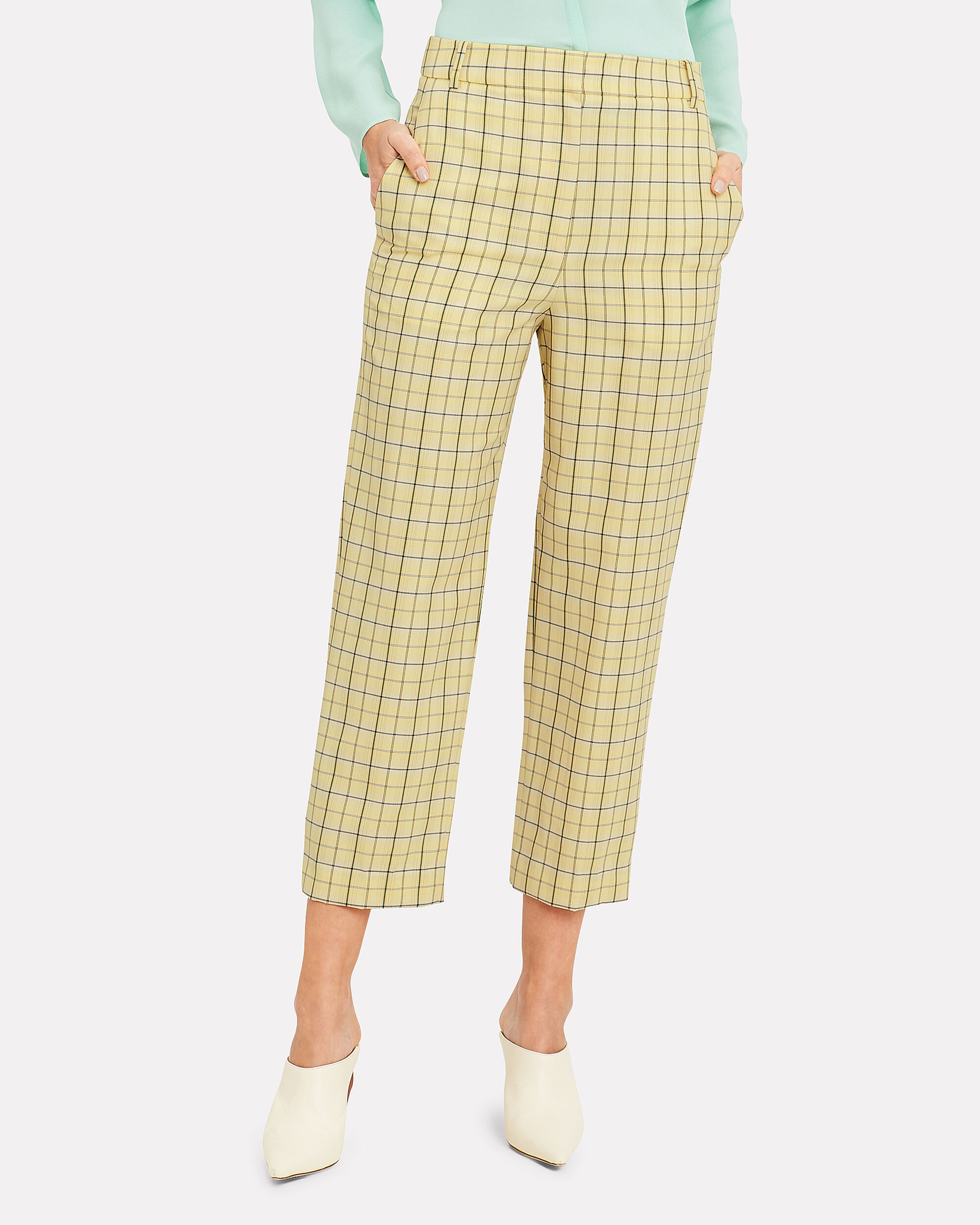 Marvel Yellow Plaid Suiting Pants, YELLOW PLAID, hi-res