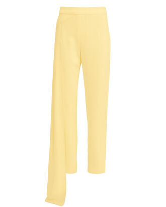 Nasir Cropped Waist Panel Pants, YELLOW, hi-res