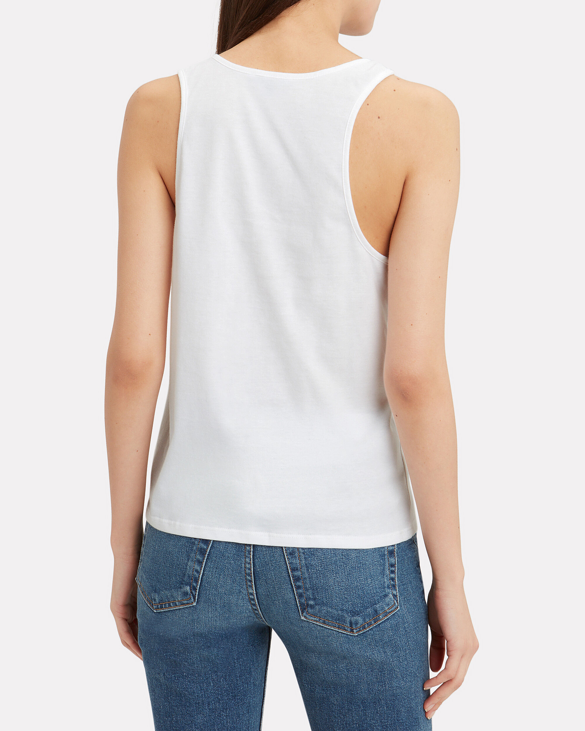 Stark Knotted Tank, WHITE, hi-res