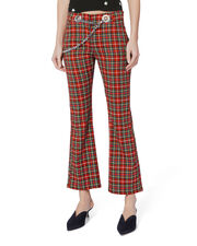 Morgan Plaid Flare Pants, MULTI, hi-res