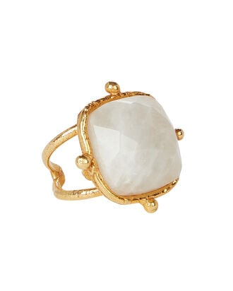 Coussin Moonstone Cocktail Ring, WHITE, hi-res