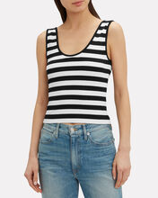 Lyla Striped Tank, BLK/WHT, hi-res