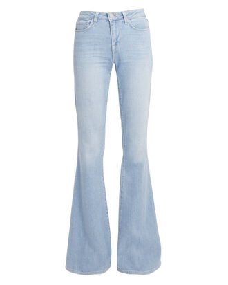 Bell Flare Jeans, LIGHT BLUE DENIM, hi-res