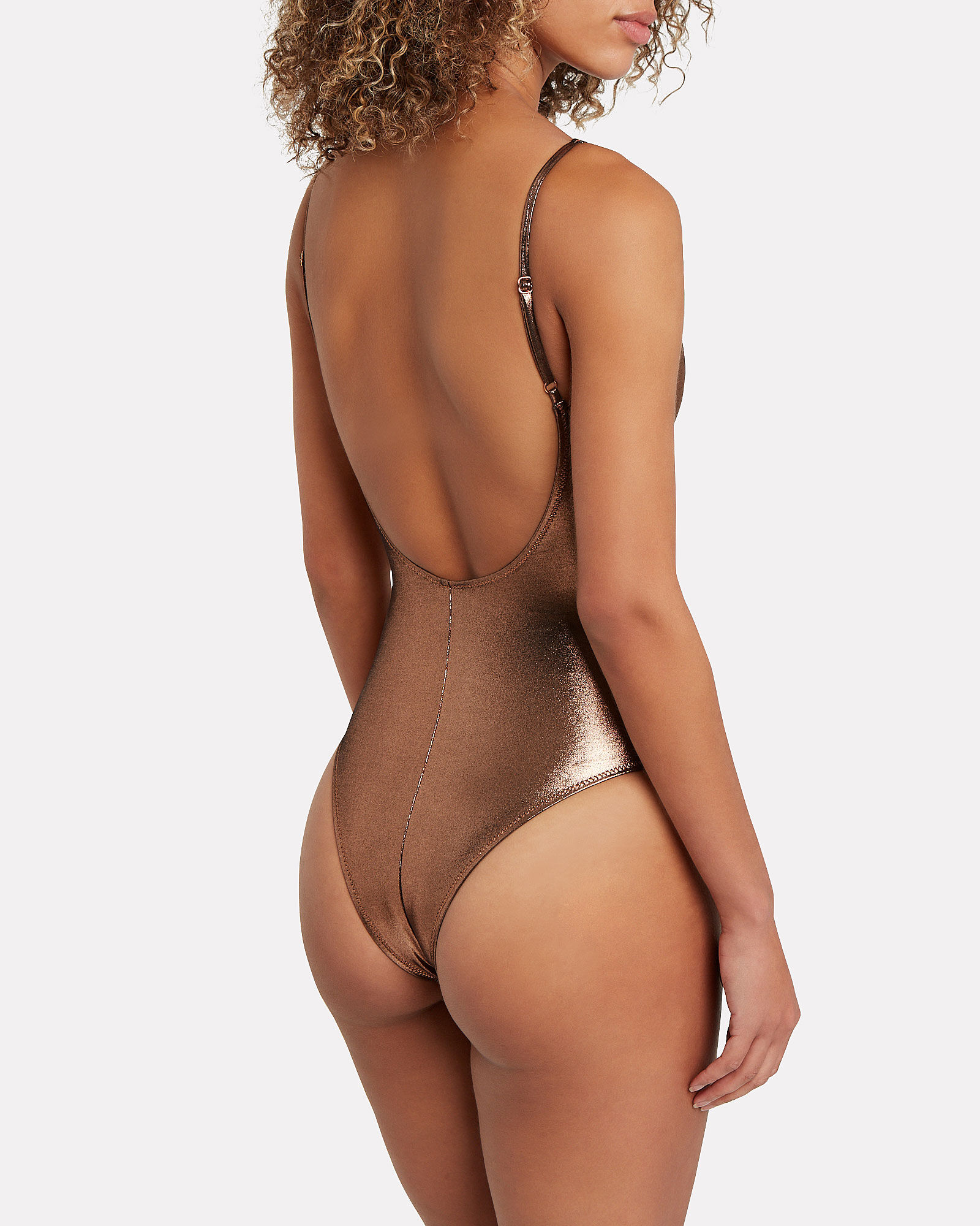 Viva One-Piece Swimsuit, GOLD, hi-res