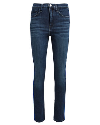 Kate Tuxedo Stripe Skinny Jeans, DARK WASH DENIM, hi-res