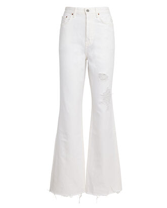 Dawn Flared High-Rise Jeans, WHITE, hi-res