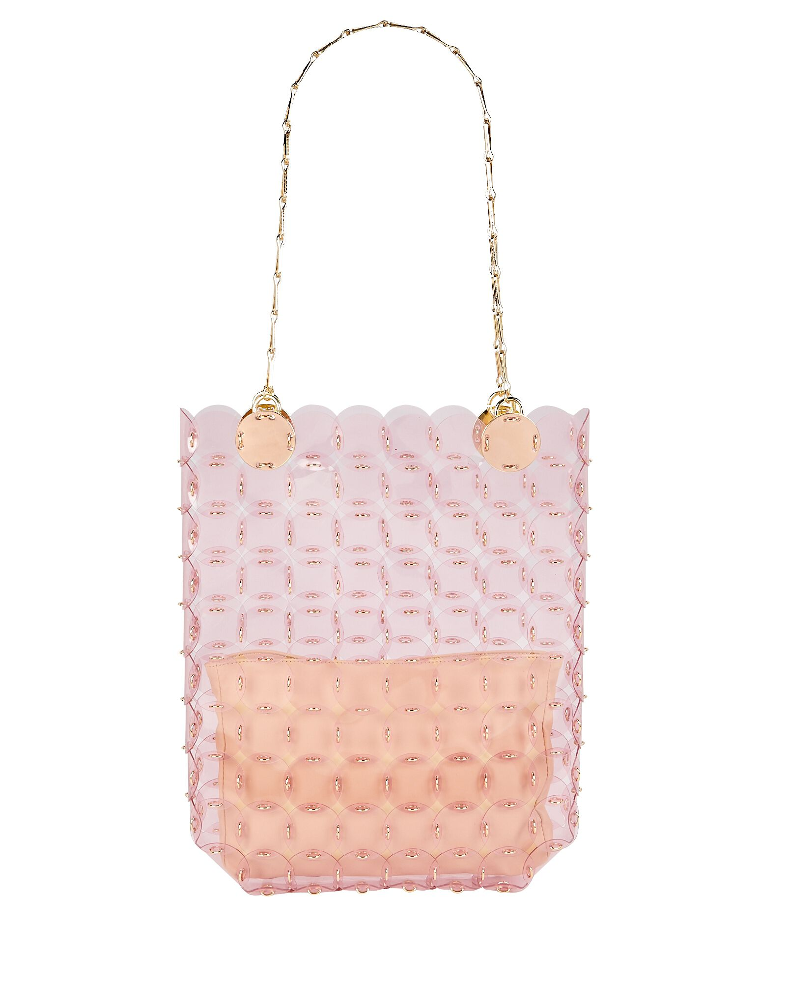 Disco Chain-Mail Tote Bag, PINK, hi-res