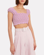 Smocked Crop Top, MULTI, hi-res