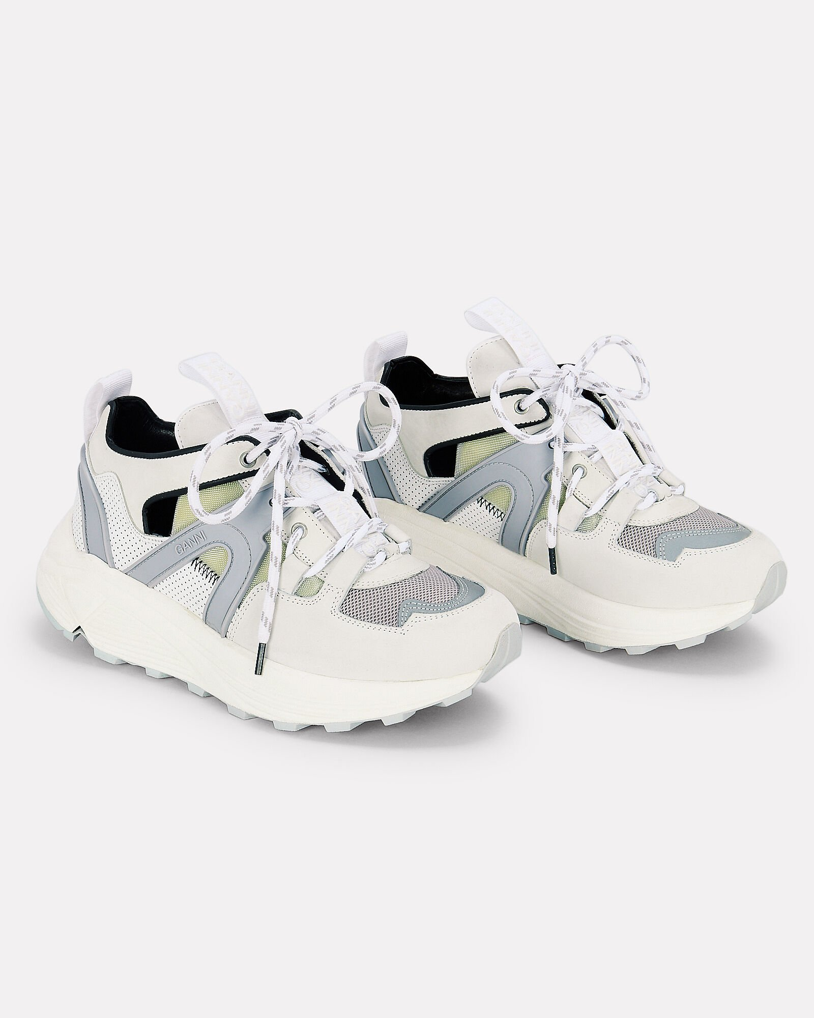 Brooklyn Low-Top Chunky Sneakers, WHITE, hi-res