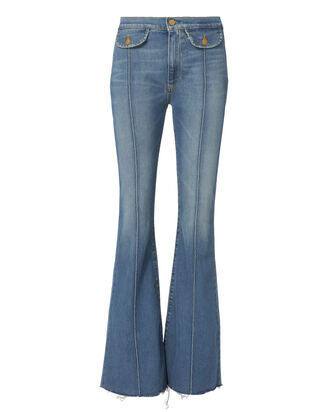 Roxy Seam Flare Jeans, DENIM, hi-res