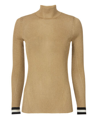 Priya Gold Turtleneck, METALLIC, hi-res