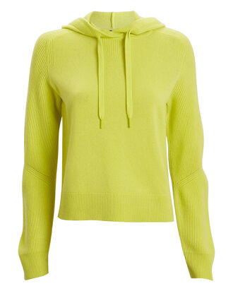 Logan Cashmere Hooded Sweater, LIME GREEN, hi-res