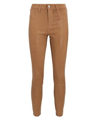 Margot Coated Skinny Jeans, HAZELNUT, hi-res