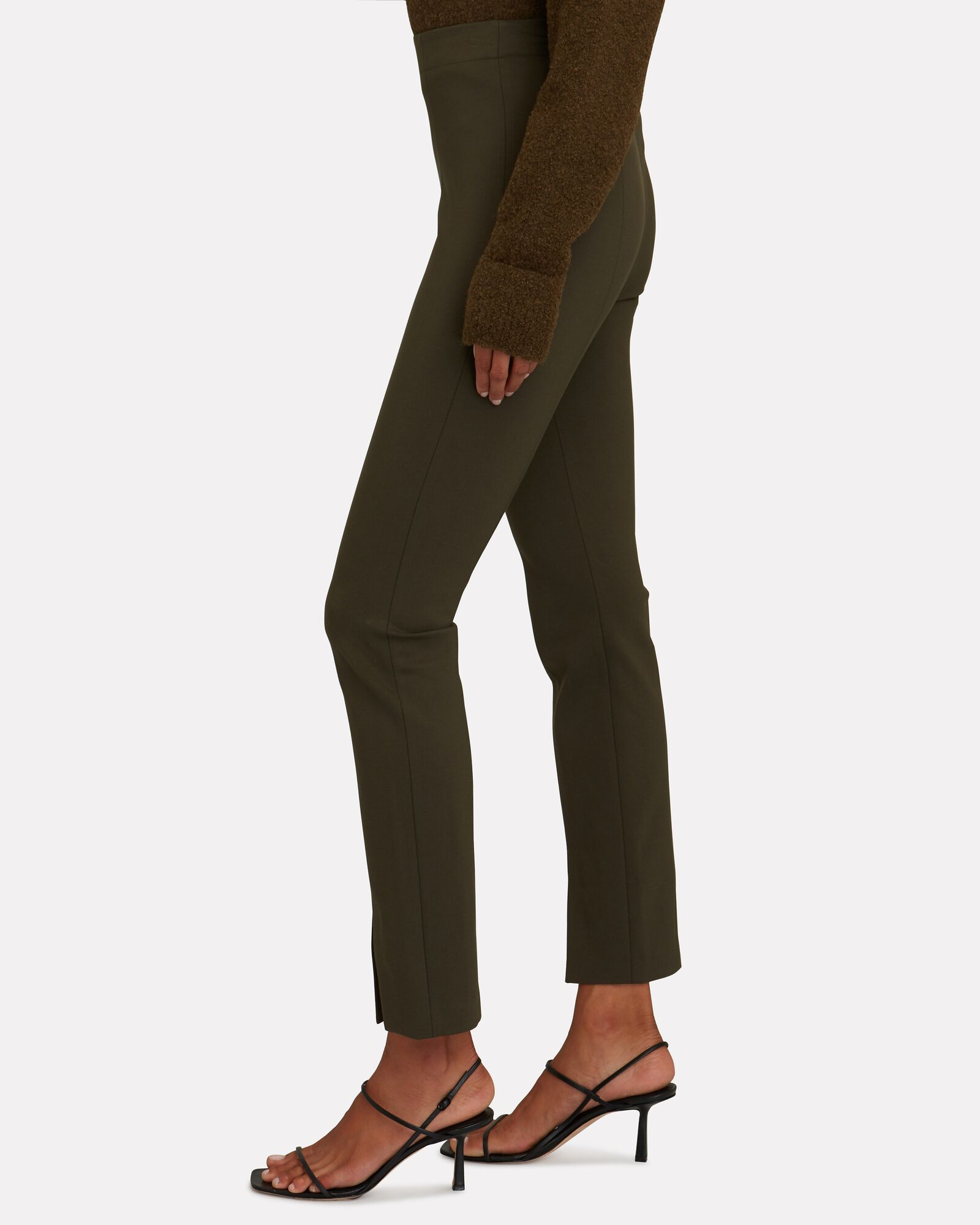 Bond Stretch Knit Leggings, GREEN, hi-res
