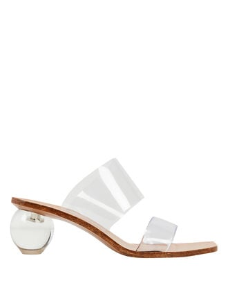 Jila Transparent Slide Sandals, CLEAR, hi-res