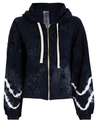 Westside Tie-Dye Hooded Zip Sweatshirt, BLACK/WHITE, hi-res