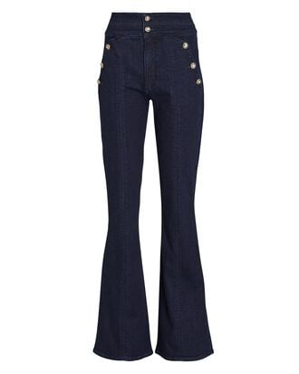 Beverly Flared High-Rise Jeans, INDIGO, hi-res