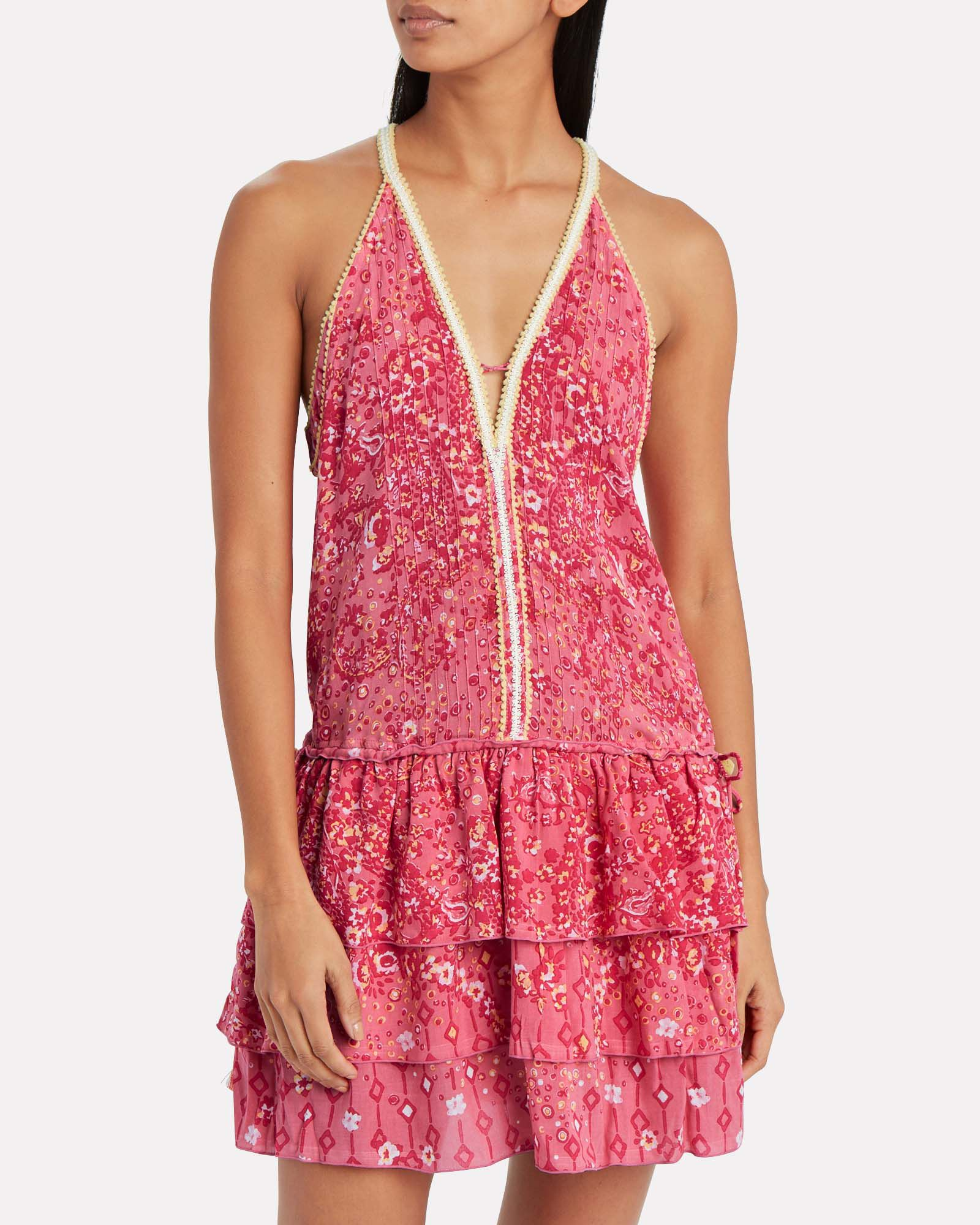 Bety Ruffled Embroidered Mini Dress, PINK, hi-res