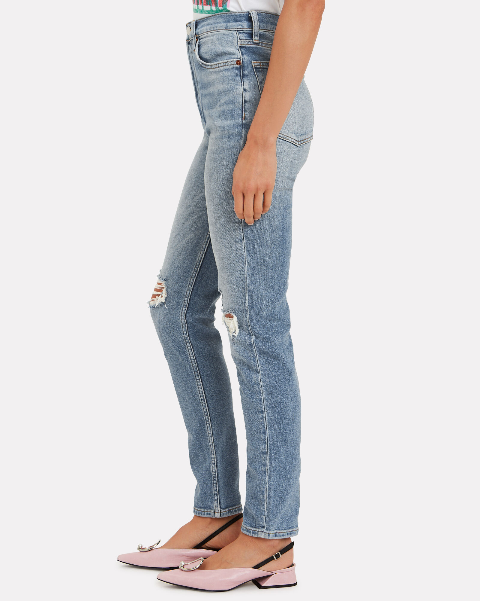 Ultra High-Rise Stretch Jeans, MEDIUM WASH DENIM, hi-res