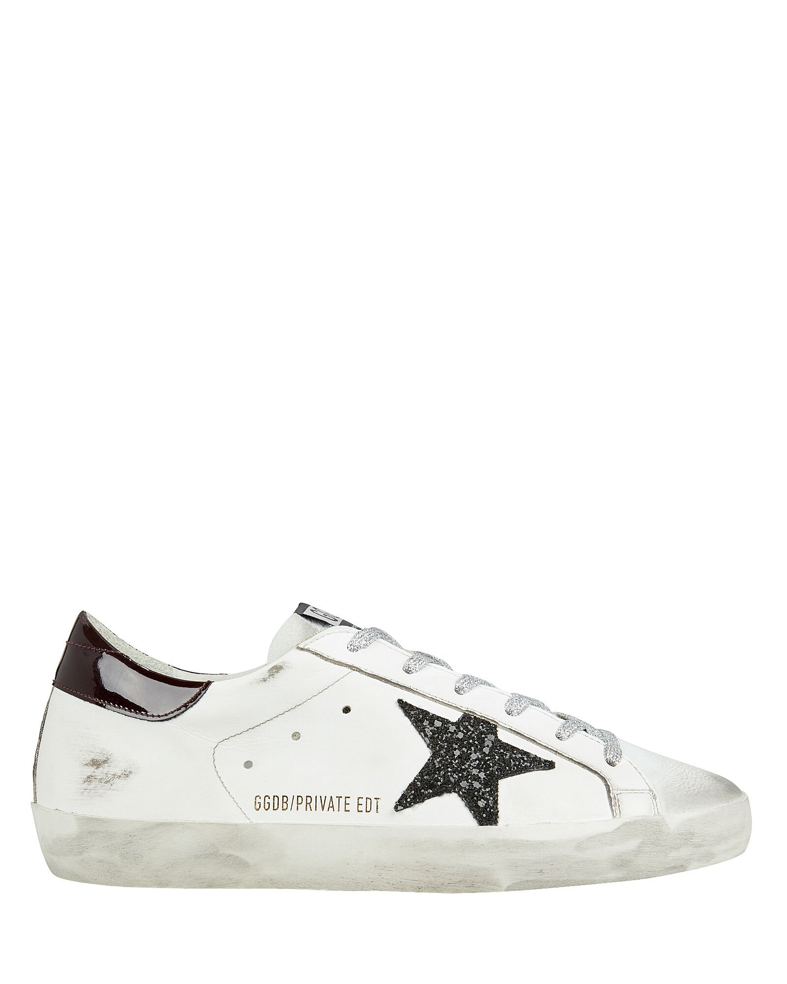 Superstar Glitter Star Low-Top Sneakers, BLK/WHT, hi-res