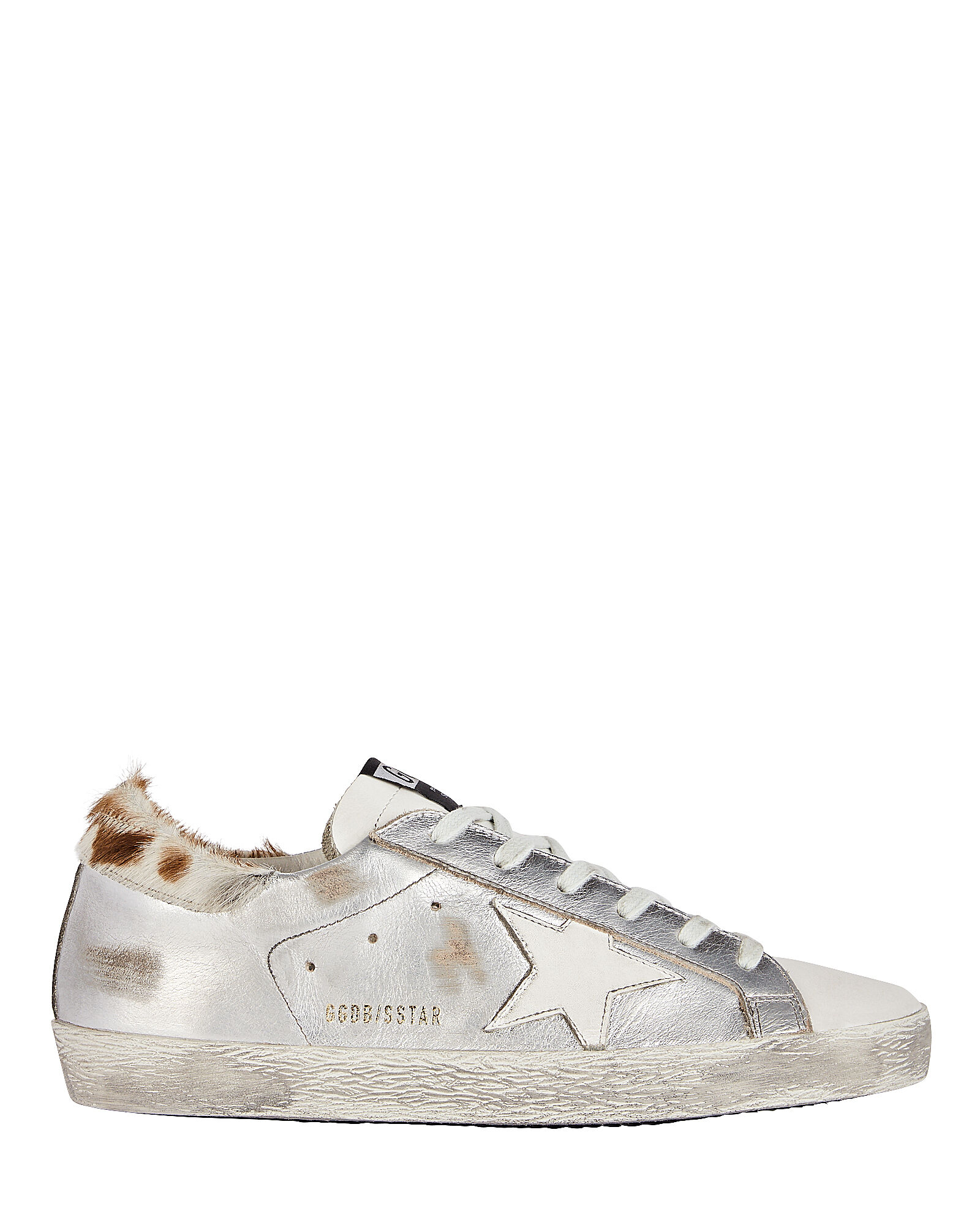 Superstar Calf Hair-Trimmed Sneakers, SILVER, hi-res