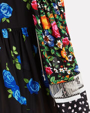 Floral Patchwork Midi Dress, MULTI, hi-res