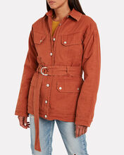 Ellery Cotton Cargo Jacket, ORANGE, hi-res