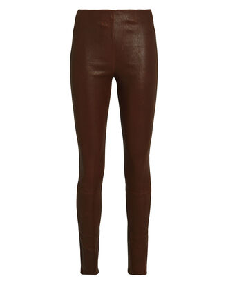 Leather Leggings, BROWN, hi-res