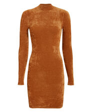 Verde Chenille Mini Dress, GOLD, hi-res