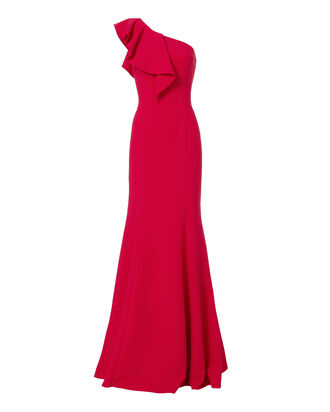 Osgood One Shoulder Poppy Gown, RED, hi-res