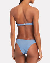 Chiara Checkered Bikini Bottoms, BLUE GINGHAM, hi-res