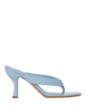 Kim Leather Flip-Flop Sandal, PALE BLUE, hi-res