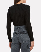 Lynnsey Cable Knit Cardigan, BLACK, hi-res