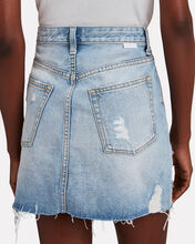 Corey Distressed Denim Mini Skirt, Dr. Strangelove, hi-res