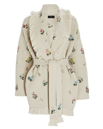 Grunge Garden Embroidered Cardigan, IVORY, hi-res