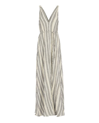 Georgica Maxi Lurex Stripe Dress, PATTERN, hi-res