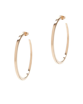 Eclipse Hoop Earrings, METALLIC, hi-res